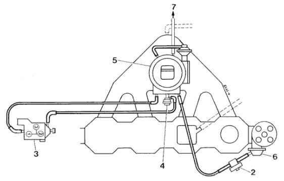 Схема расположения вакуумных трубок